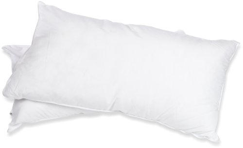 King Size, Solid White – Superior White Down Alternative Pillow 2-Pack, Premium Hypoallergenic Microfiber Fill, Medium Density for Back, Stomach, and Side Sleepers
