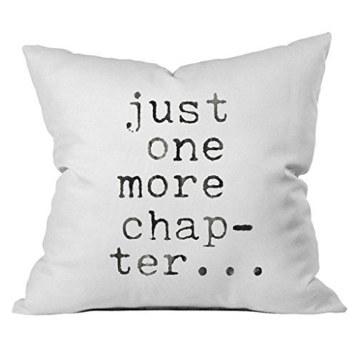 Oh, Susannah Just One More Chapter Throw Pillow Cover – Library Book Lovers Gifts – Bibliophile 1 18×18 inch, Pillowcase