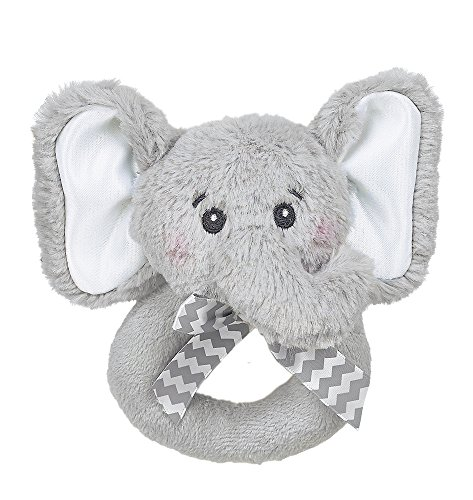 Hudson Baby Animal Friend Plushy Security Blanket Gray