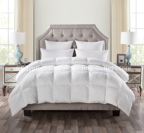 LUXURIOUS QUEEN Size White Goose Down Alternative Comforter Duvet Insert 750 Fill Power, 50 oz Fill Weight,Plush Siliconized Polyester Fiberfill,Hypoallergenic,Baffle Box design & LIFETIME WARRANTY!