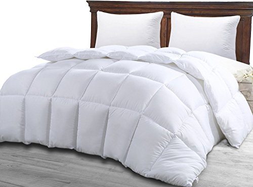 Quilted Comforter with Corner Tabs – Queen Comforter Duvet Insert White – Hypoallergenic, Plush Siliconized Fiberfill, Box Stitched Down Alternative Comforter by Utopia Bedding