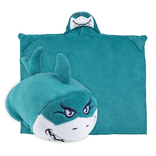 Aqua Blue – Comfy Critters Kids Huggable Hooded Blanket