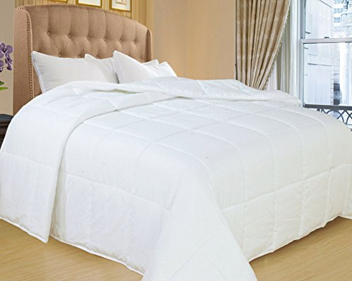 Natural Comfort White Down Alternative Comforter with Embossed Microfiber Shell, Light Weight Filled, King