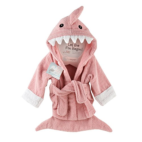 "Baby Aspen ""Let the Fin Begin""  Shark Robe, Pink, 0-9 Months"