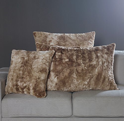 Brielle Faux Fur Euro Sham, Alpine Swift Light Brown