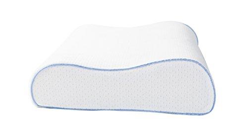 AERIS Queen Plush Memory Foam Contour Pillow – White