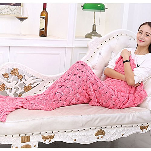 2013Newestseller Latest Soft Mermaid Blanket Tail for Kids and Adults All Seasons Pink