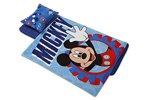 Minds In Sync Aquatopia Deluxe Memory Foam Nap Mat Set, Mickey Mouse/Blue
