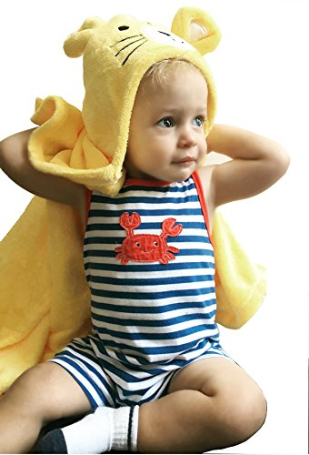 DeeCoo Flannel Hooded Baby Blanket-Soft & Cuddly-Tiger Hood Brings Smiles & Fun