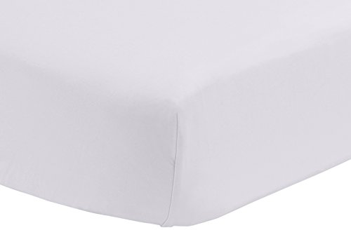Pinzon 300 Thread Count Percale Fitted Crib Sheet, White