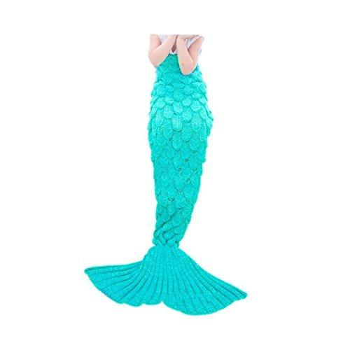 Mermaid Blanket,FYHAP Mermaid Tail Blanket Soft All Seasons,Sofa Quilt Living Room Super Sleeping Bags Kids Scale Green