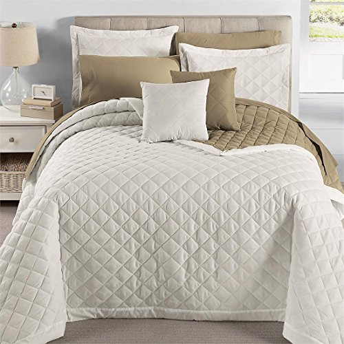 Brylanehome Studio Quilted Reversible Bedspread Ivory Taupe,Queen