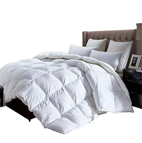 luxurious king size lightweight goose down comforter duvet insert all season 1200 thread count. Black Bedroom Furniture Sets. Home Design Ideas