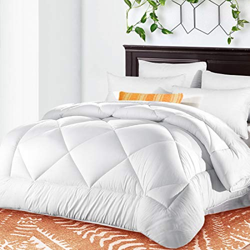 Queen Comforter Soft Quilted Warm 3d Down Alternative Duvet Insert With Corner Tabs