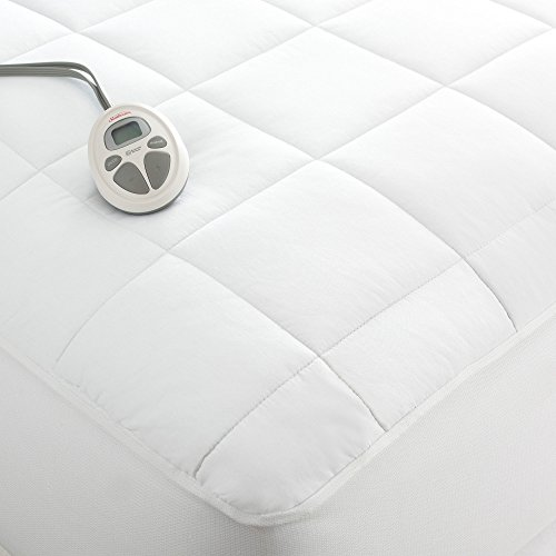 Sunbeam King Heated Mattress Pad Quilted Construction For