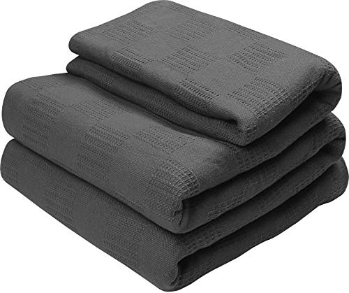Phf Cotton Waffle Weave Blanket Lightweight And Breathable