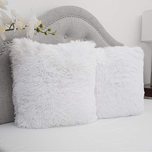Sweet Home Collection Plush Pillow Faux Fur Soft And Comfy
