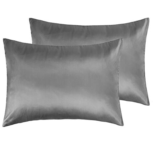 Dreamhome Satin Pillow Case With Zipper 2 Pillow Cases