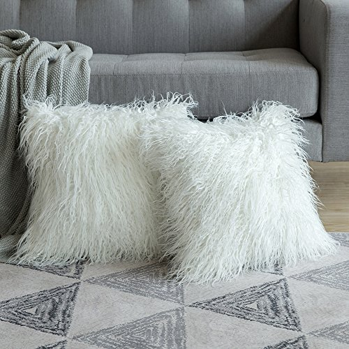 Miulee Pack Of 2 Decorative New Luxury Series Style White