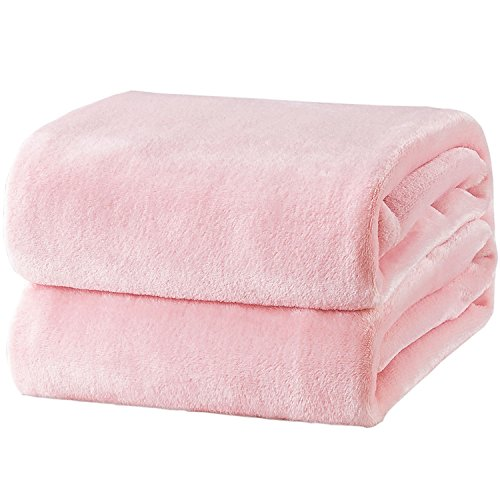 bedsure Fleece Blanket Throw Size Pink Lightweight Super Soft Cozy Luxury Bed Blanket Microfiber