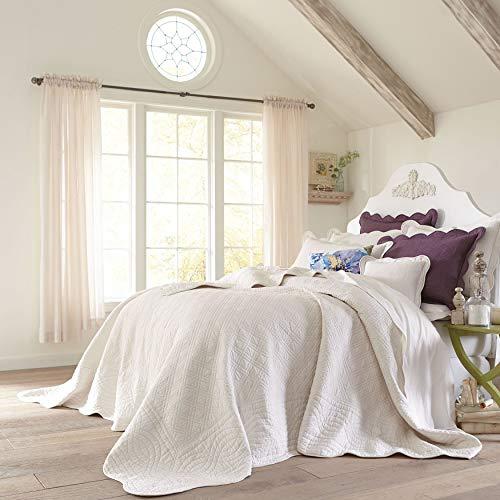 Ecru, King – BrylaneHome Florence Oversized Bedspread