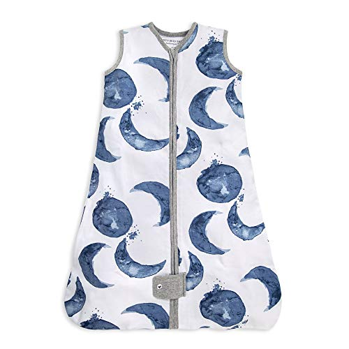 Burt's Bees Baby Baby Beekeeper Wearable Blanket, 100% Organic Cotton, Swaddle Transition Sleeping Bag, Hello Moon, Large