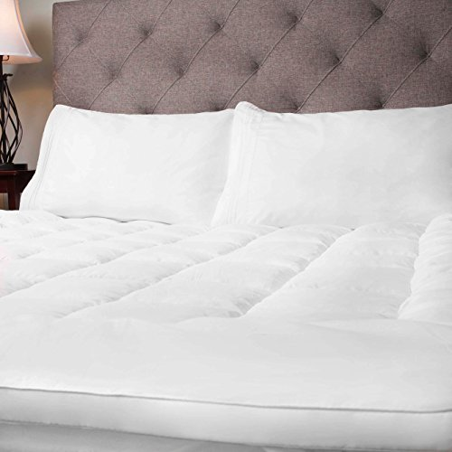 Sweet Home Collection Hypoallergenic Polyester Down Alternative Fiber Bed Mattress Topper, King