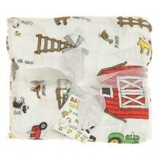 Imagine Baby Products Bamboo Swaddling Blanket Barnyard Friends