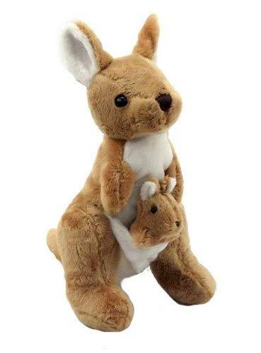 Plush Doll Stuffed Animal   Super Soft, Huggable Kangaroo Toy for Baby and Toddler Boys, Girls   Snuggle, Cuddle Pillow Stuffed with PP Cotton Filling   Great Gift Idea for Birthdays and Holidays