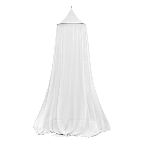 Trademark Mosquito Repelling Net for Beds, Hammocks, and Cribs – Insect Protection Hanging Canopy for Camping with Large Screen Opening by Lavish Home – 75-31215