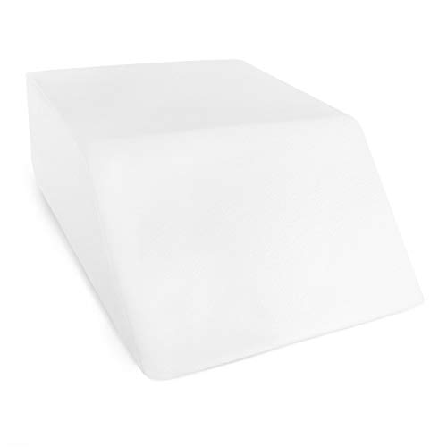Restorology Elevating Foam Leg Rest Pillow – Wedge Pillow – Includes Removable Cover – Reduces Back Pain and Improves Circulation