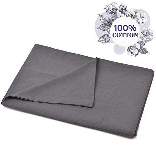 Vailge 100% Cotton Removable Duvet Covers for Weighted Blankets60″' X 80″, Machine Washable Weighted Blanket Duvet Cover with Ties Grey