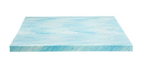 Dreamfoam Bedding 2″ Gel Swirl Memory Foam Topper, Made in USA, Queen, Blue