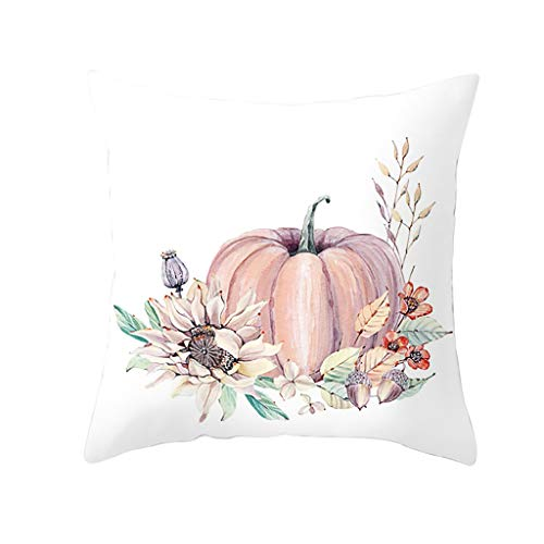 Hurrybuy Fall Pillow Covers Pumpkin Farm Autumn Halloween Decorative Throw Pillow Covers 18×18 Inch for Sofa Couch Decor