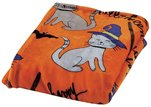 Spooky Cats – Décor&More Happy Halloween Microplush Throw Blanket 50″ x 60″