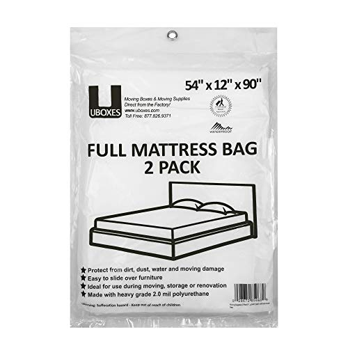 Full Size Mattress Covers/Mattress Bags 54″ x 12″ x 90″ Moving Supplies 2 Pack