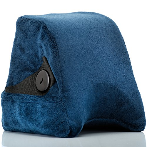 Travel Pillow by Travel Heads | Comfortable Memory Foam Neck Pillow, Best Shoulder Wedge Pillow for Airplanes & Cars Blue