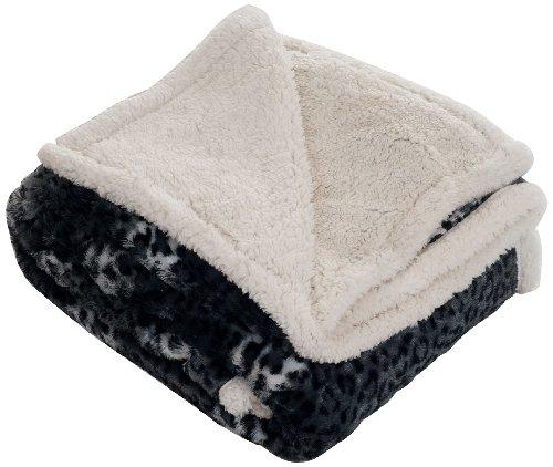 Lavish Home Throw Blanket, Fleece/Sherpa, Cheetah