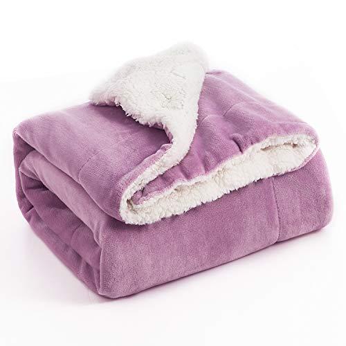Bedsure Sherpa Fleece Blanket Twin Size Lalic Plush Blanket Fuzzy Soft Blanket Microfiber