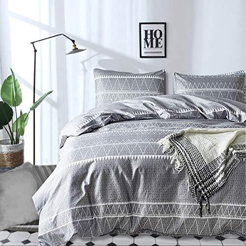 Grey Comforter Set Queen, Ultra Soft Microfiber Reversible Down Alternative Comforter Set – 3 Pieces 1 Solid Comforter Set + 2 Pillow Shams, Bedding Inner Filling Duvet Set for All Season Queen Size