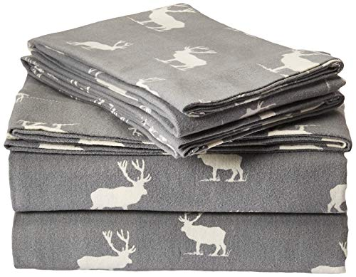Eddie Bauer Elk Grove Flannel Sheet Set, Queen