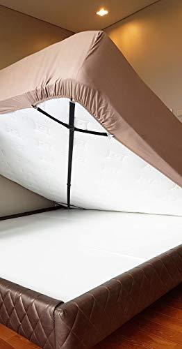 Bed Suspender Crisscross 2 Ways-Adjustable Long Gripper/Strap/Holder/Fastener for Your Bed. Set of 2. Triangle Model