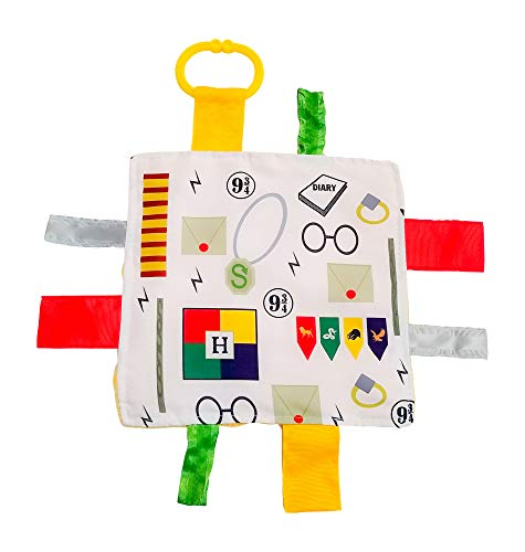 Lovey Chew Blanket Crinkle Toy Tag Square Sensory by Baby Jack Wizard