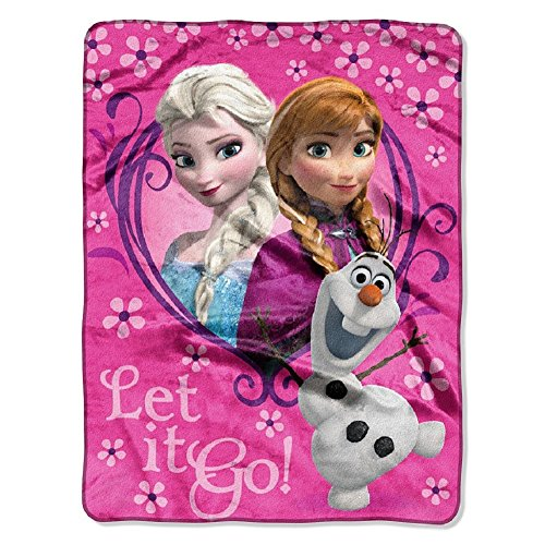 Northwest Disney Frozen Springtime Let It Go! Silk Touch Plush Throw Pink