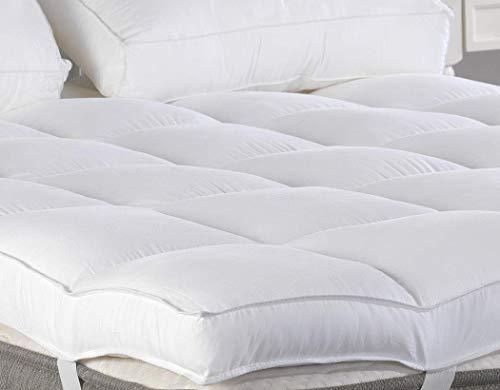 Full Mattress Topper, Plush Pillow Top Mattress Pad/Bed Topper, Hotel Quality Down Alternative Pillow Topper, 3″ Thick