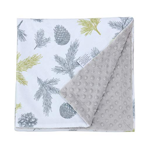 Millian Baby Minky Dot Warm Baby Blanket X-Large Soft, Plush, Double-Layered Comfort | Gender Neutral Receiving Blankie for Boys and Girls