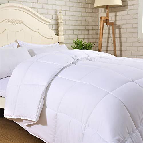 SNUZZZZ Alternative Down King Comforter Duvet Insert with Nanotex, Hypoallergenic and Reversible