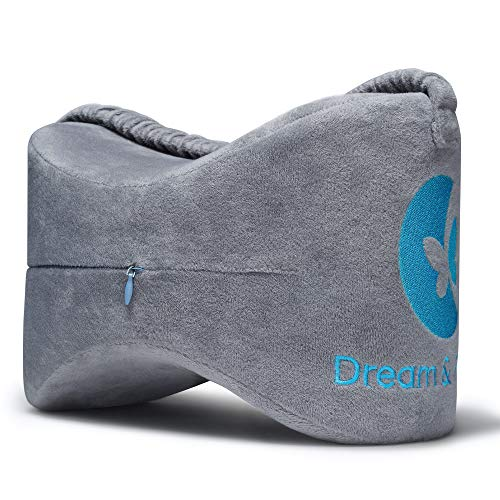 Leg Pillow Memory Foam Knee Pillow for Side Sleepers for Between Legs Dream Hip Pillow Knee Pillows for Sleeping Leg Pillows for Sleeping on Side SI Joint Sciatica Orthopedic Knee Pillow for Back Pain