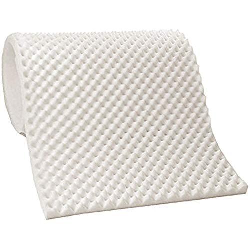 Vaunn Medical Egg Crate Convoluted Foam Mattress Pad – 3″ Thick EggCrate Mattress Topper Hospital Bed Twin Size