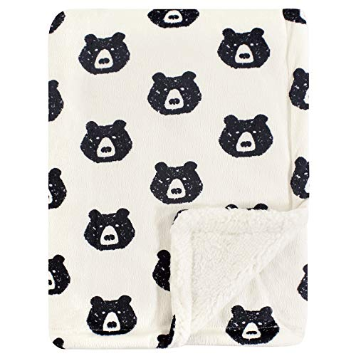 Yoga Sprout Mink Blanket with Sherpa Backing, Bear, One Size